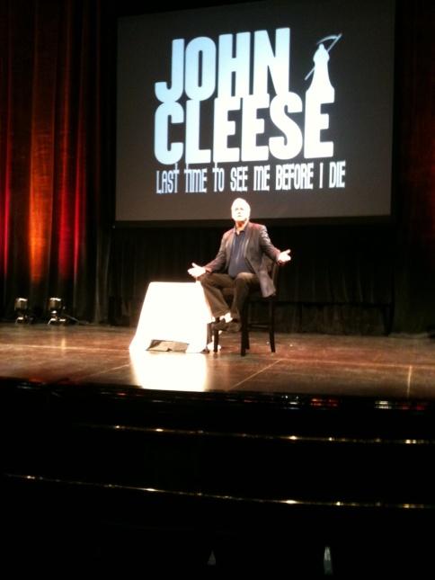 John Cleese rehearses!
