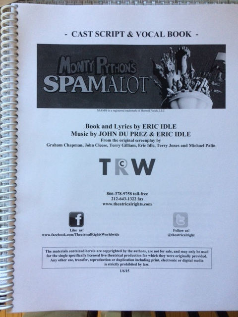 Spamalot book